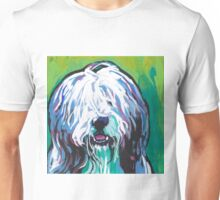 Bearded Collie Bright colorful pop dog art Unisex T-Shirt