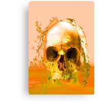 Golden Skull in Water Canvas Print