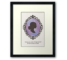 Buffy Cameo Framed Print