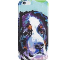 Bernese Mountain Dog Bright colorful pop dog art iPhone Case/Skin