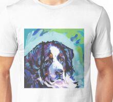 Bernese Mountain Dog Bright colorful pop dog art Unisex T-Shirt