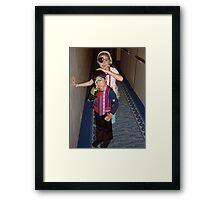 Two Kids Dressed up for A Pirate Night. Framed Print