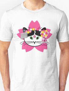 Cherry-blossom Cat T-Shirt