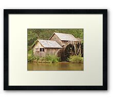 MABRY MILL - Front view ^ Framed Print