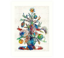 Colorful Christmas Tree Art by Sharon Cummings Art Print
