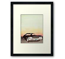 Sunset Impalas! Framed Print