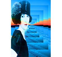 Top hat with snow Photographic Print