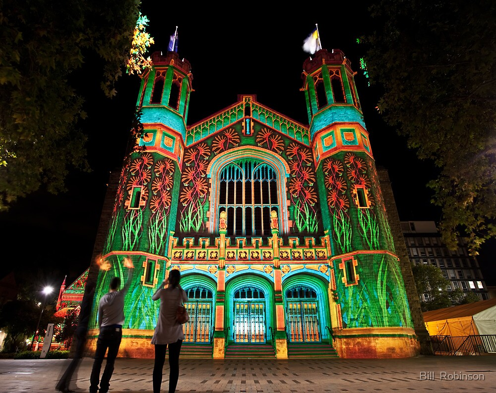 Northern Lights Display, North Terrace by Bill  Robinson