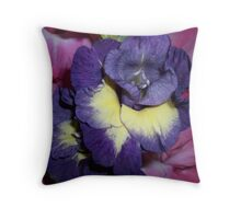 Purple and Pink Gladiolas  Throw Pillow