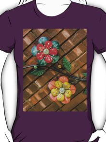 Wall Flowers on Brick T-Shirt