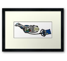 TARDIS in tow Framed Print