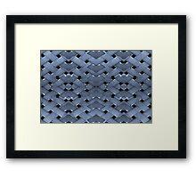 Futuristic Grid Pattern Design Print in Blue Tones Framed Print
