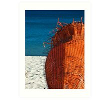 ORANGE - Cottesloe Beach, Perth, Western Australia Art Print