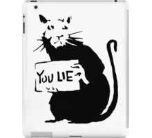 banksy - rat (you lie) iPad Case/Skin