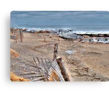 Frigid Falmouth Ocean Canvas Print