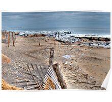 Frigid Falmouth Ocean Poster