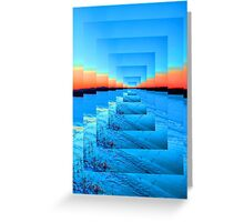 Infinity Snow Greeting Card