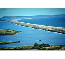 Chesil Beach-A Birds Eye View! Photographic Print