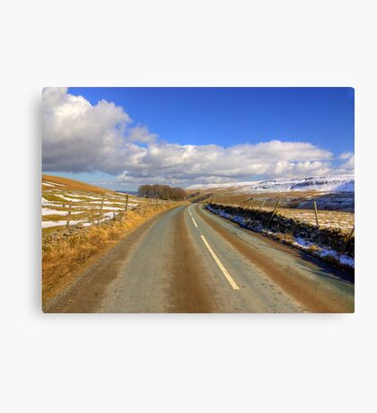The View from the Kettlewell Road. Canvas Print