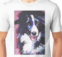 Border Collie Bright colorful pop dog art Unisex T-Shirt