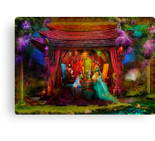 A Mad Tea-Party Canvas Print