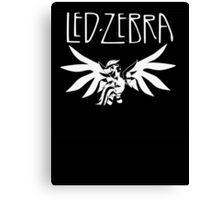 Led Zebra Canvas Print