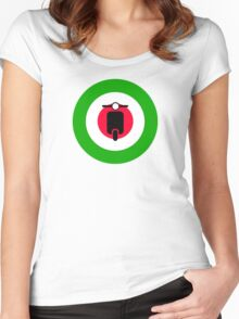 Scooter target - Mods Italy Women's Fitted Scoop T-Shirt