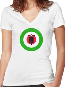 Scooter target - Mods Italy Women's Fitted V-Neck T-Shirt