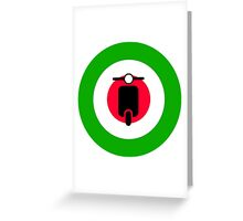 Scooter target - Mods Italy Greeting Card