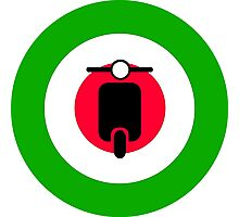 Scooter target - Mods Italy Photographic Print