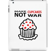 Cupcakes not war iPad Case/Skin