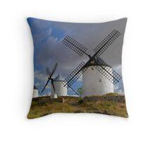 windmill of consuegra Throw Pillow