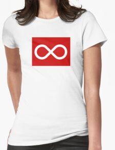 Red Métis Flag Womens Fitted T-Shirt