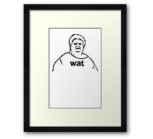 Wat what lady meme geek funny nerd Framed Print