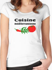 Mediterranean cuisine Women's Fitted Scoop T-Shirt