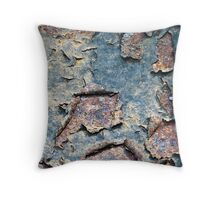 Peeling Paint on Rusty Metal Throw Pillow