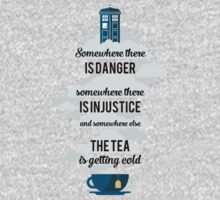 Doctor Who Somewhere tea is getting cold T-Shirt