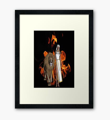 Walk of Fire Framed Print