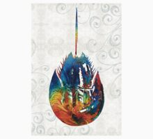 Colorful Horseshoe Crab Art by Sharon Cummings Kids Clothes