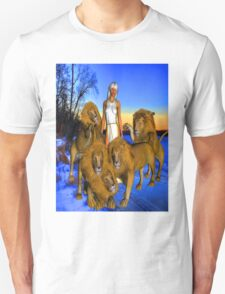 Lions in Winter Unisex T-Shirt
