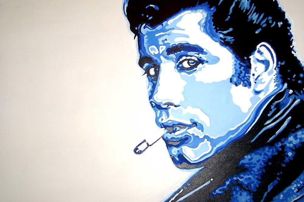 Grease is the word - John Travolta in pop art by artist Debbie Boyle db artstudio by Deborah Boyle