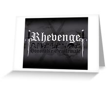 Rhevenge - [ the Black Dagger Brotherhood ] Greeting Card