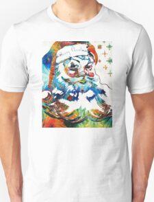 Colorful Santa Art by Sharon Cummings Unisex T-Shirt