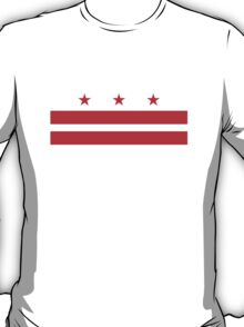 With flag of washington dc usa geek funny nerd T-Shirt