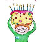 birthday boy with hudge cake by Mavri  Gata