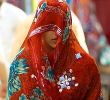 Beauty behind the Red Veil  by Mukesh Srivastava