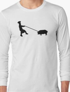 Chef and pig Long Sleeve T-Shirt