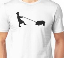 Chef and pig Unisex T-Shirt