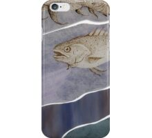 Stained glass with fishes iPhone Case/Skin