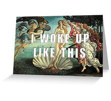 Beyonce Botticelli Venus Greeting Card